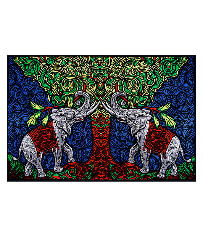 ELEPHANT TREE 3D TAPESTRY