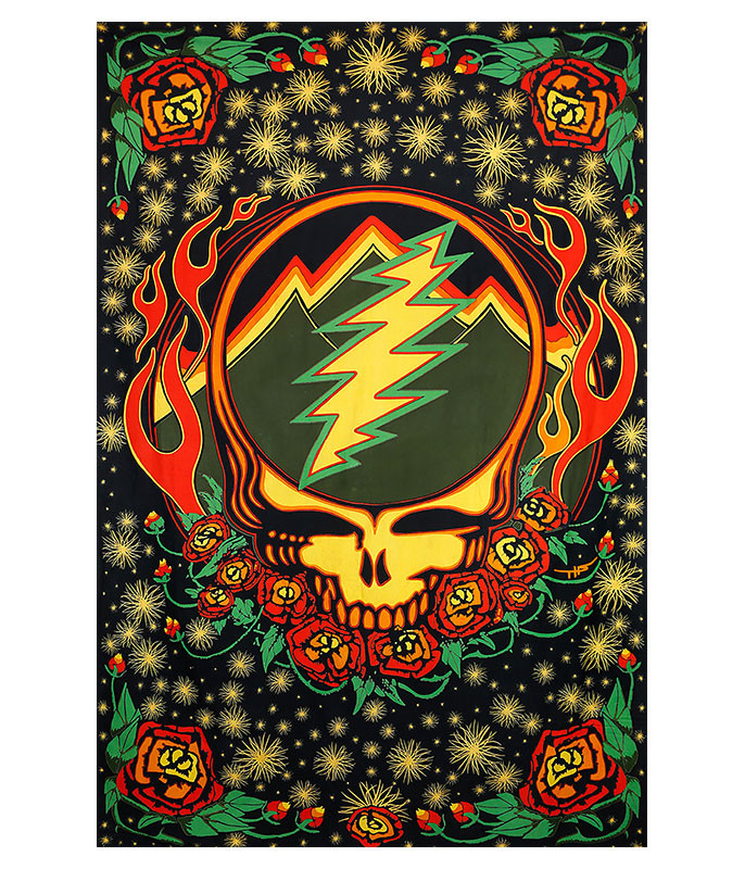 Grateful Dead GD Scarlet Fire SYF 3D Tapestry