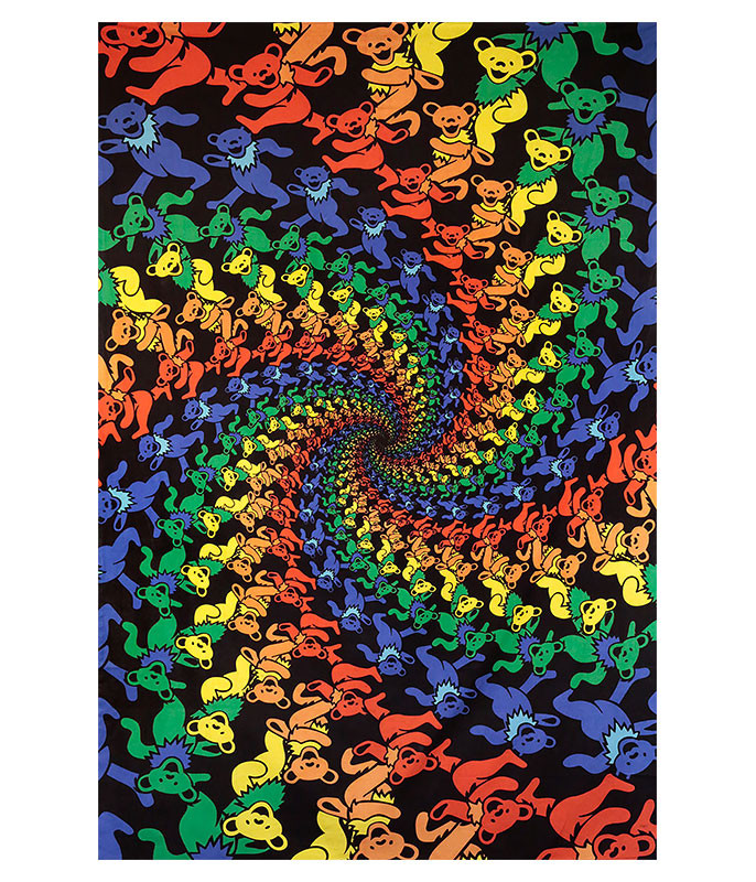 GD Spiral Bears 3D Tapestry