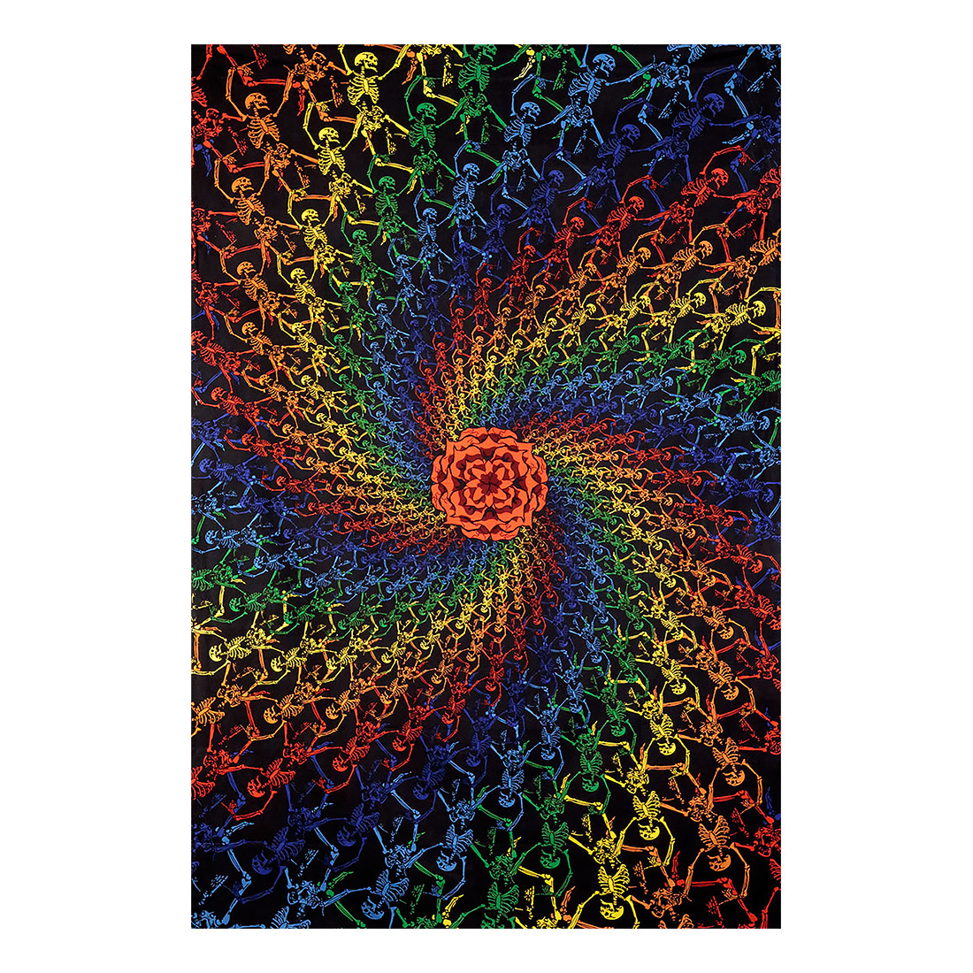 GD Spiral Skeletons 3D Tapestry