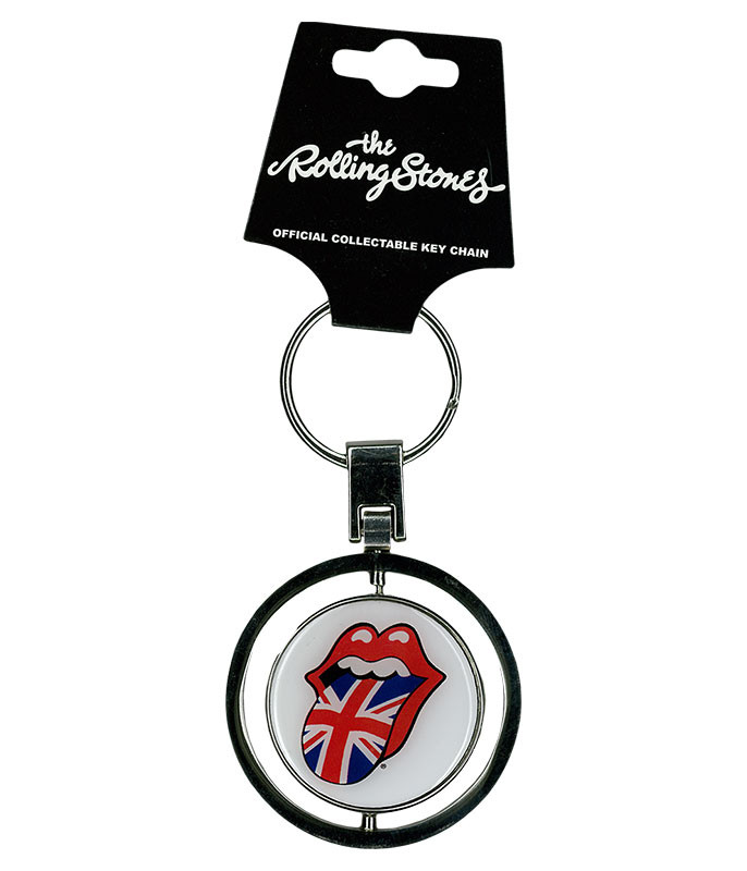 Rolling Stones Spin Keychain
