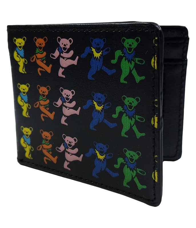 Grateful Dead GD Dancing Bears Bi-Fold Wallet