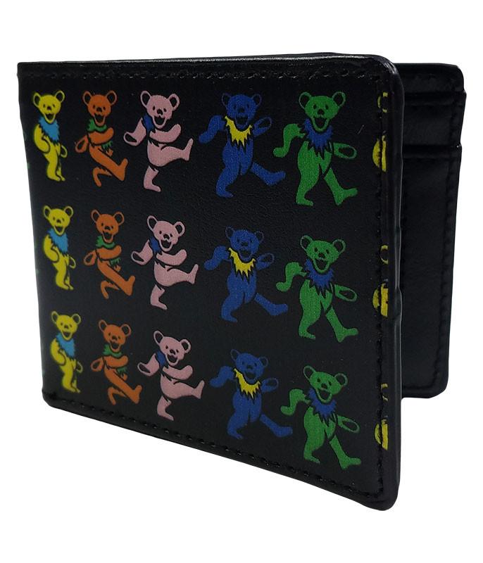 Grateful Dead GD Dancing Bears Bi-Fold Wallet