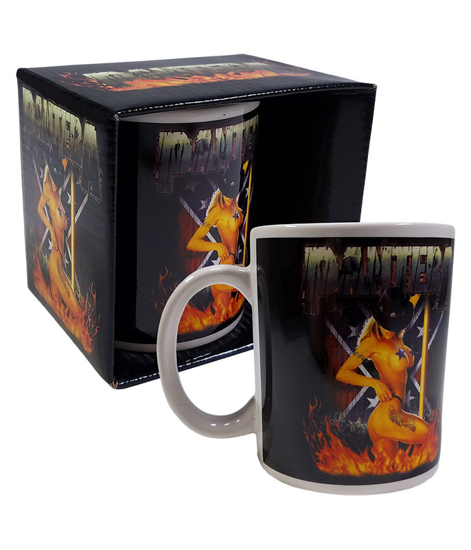 Pantera Pole Dancer Black Mug