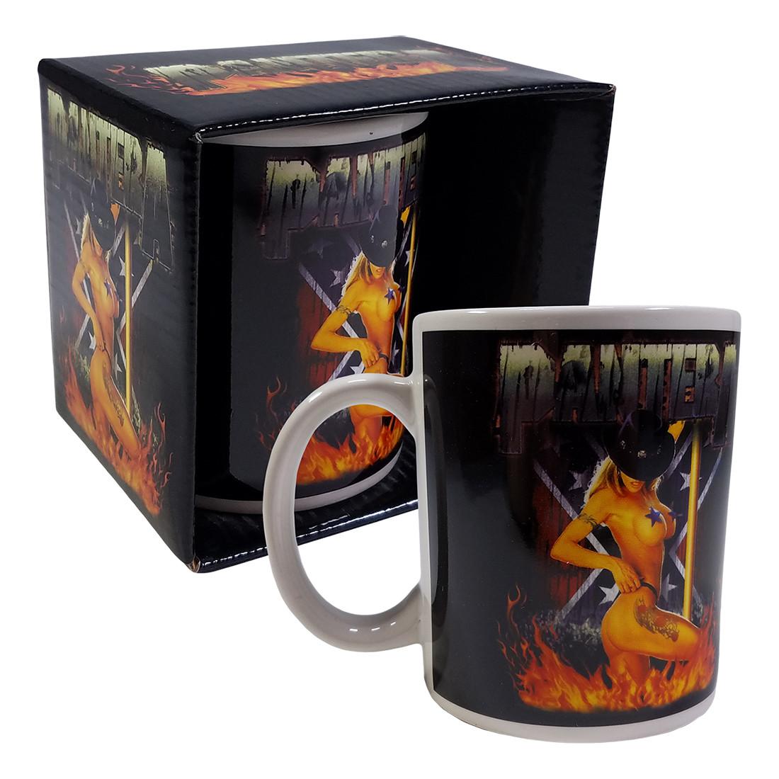 Pantera Pole Dancer Black Mug