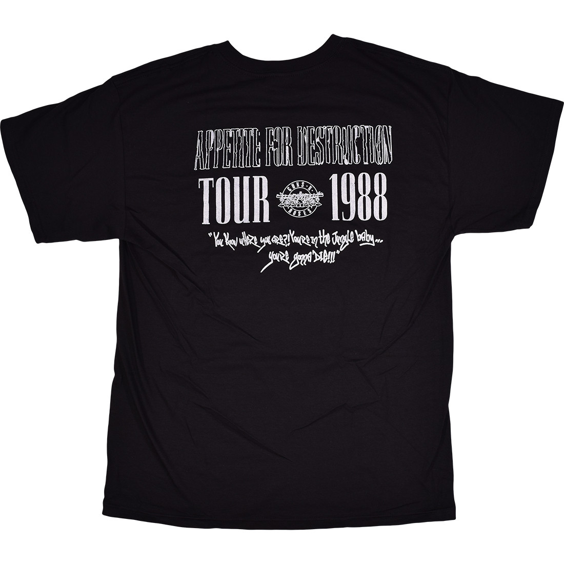 GNR Appetite 1988 Tour Black T-Shirt