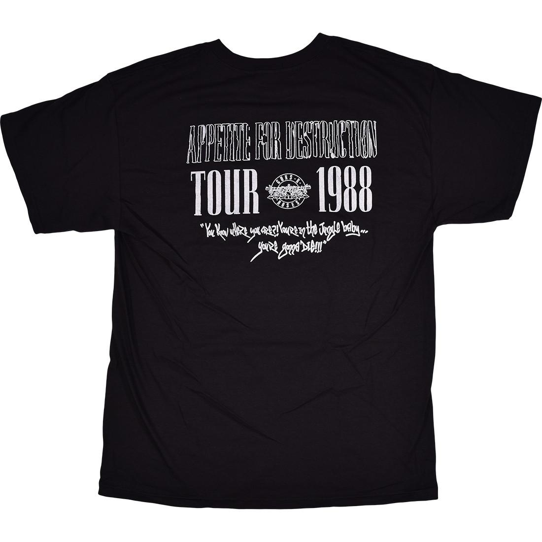 GNR Appetite 1988 Tour Black T-Shirt