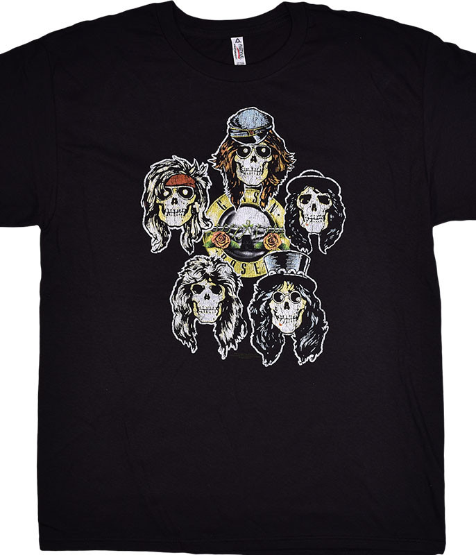 Guns N Roses GNR Head Vintage Black T-Shirt Tee