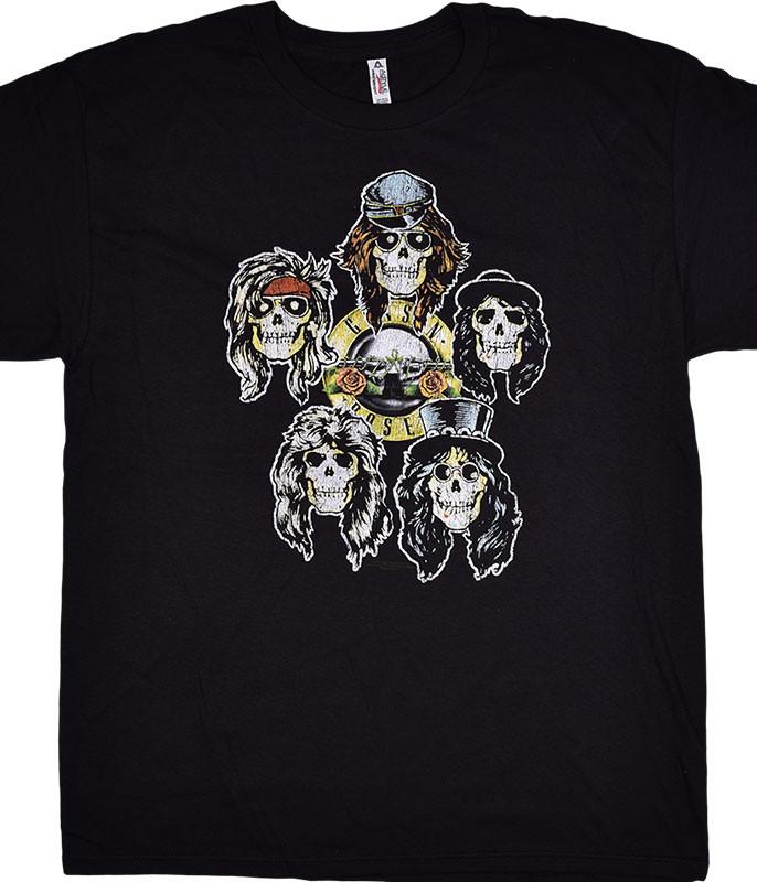Guns N Roses GNR Head Vintage Black T-Shirt Tee