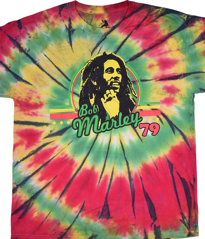 Bob Marley '79 Spiral Tie-Dye T-Shirt Tee