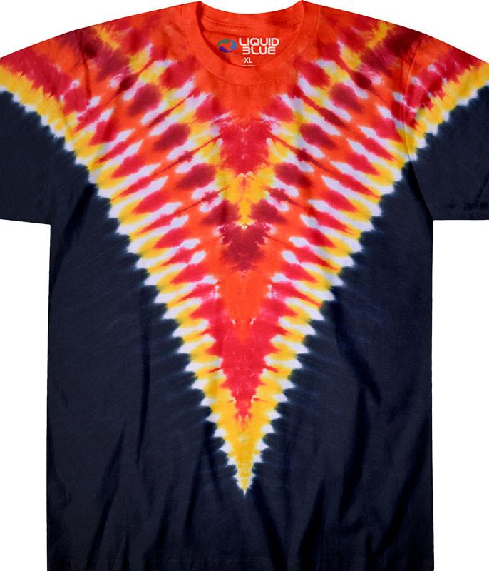 Fiery V Unprinted Tie-Dye T-Shirt