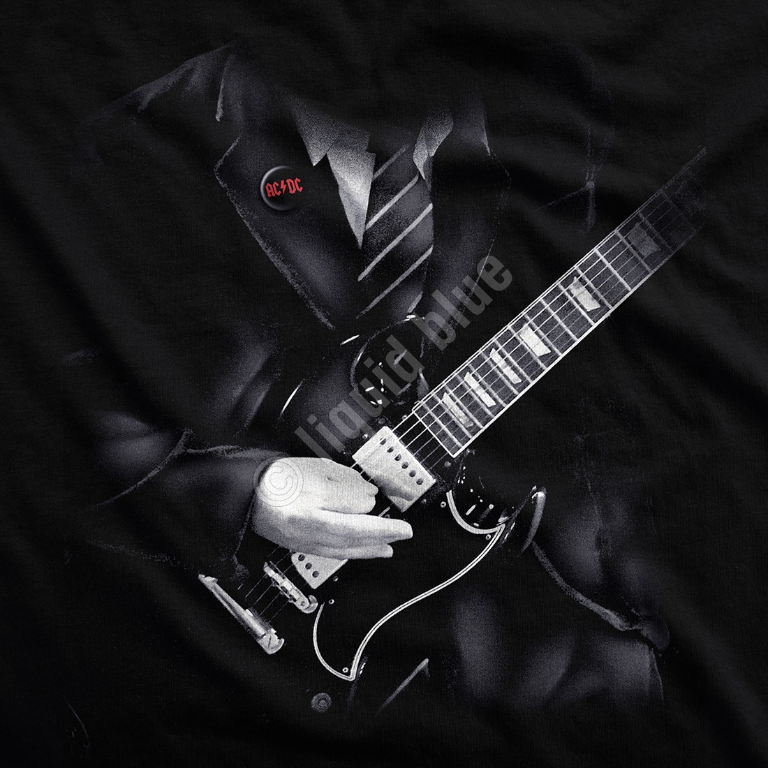 Angus Young Black T-Shirt