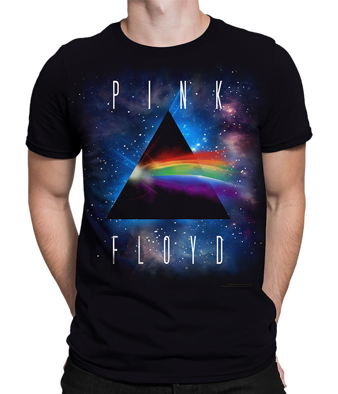 Pink Floyd Dark Side Space Black Athletic T-Shirt Tee Liquid Blue