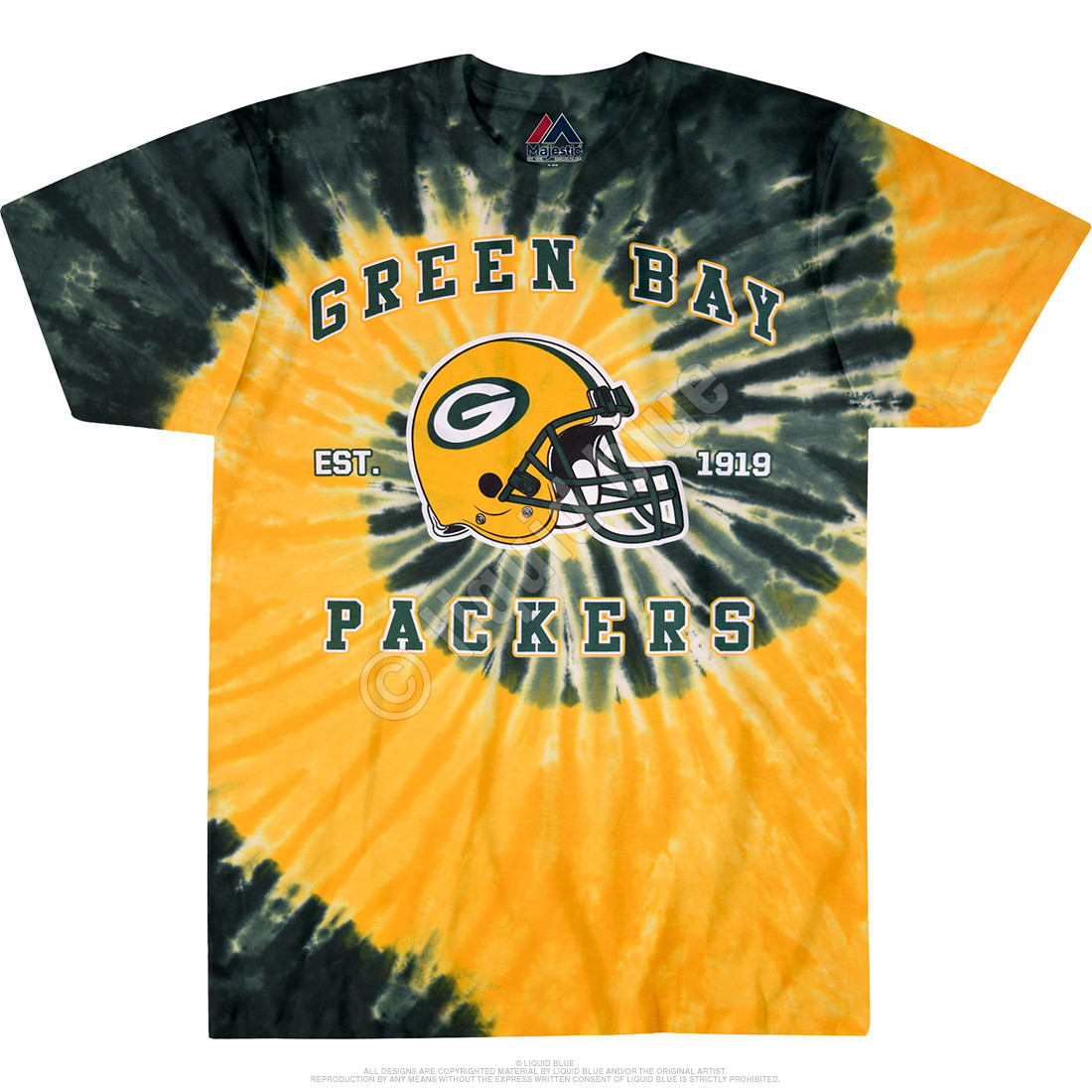 Green Bay Packers Spiral Tie-Dye T-Shirt
