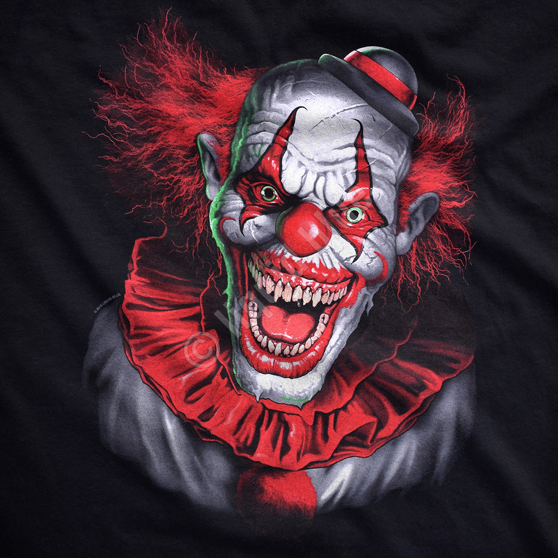 Scary Clown Black T-Shirt