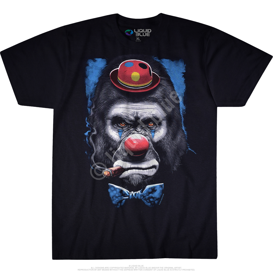 Gorilla Clown Black T-Shirt