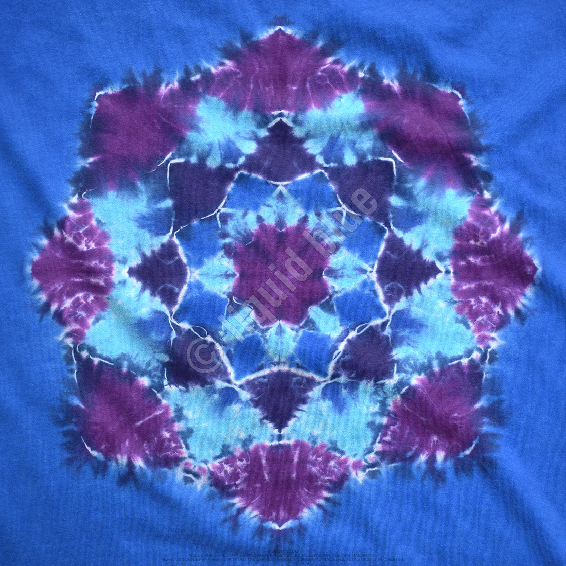 Blue Mandala Unprinted Tie-Dye T-Shirt