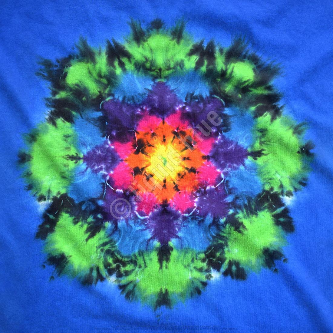 Rainbow Mandala Unprinted Tie-Dye T-Shirt
