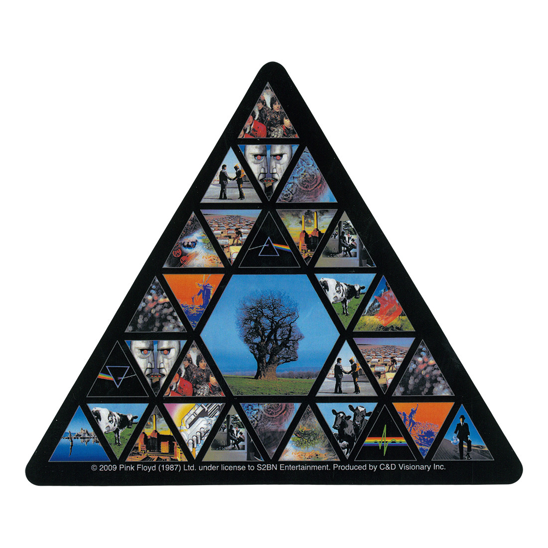 PF Albums Triangle Sticker