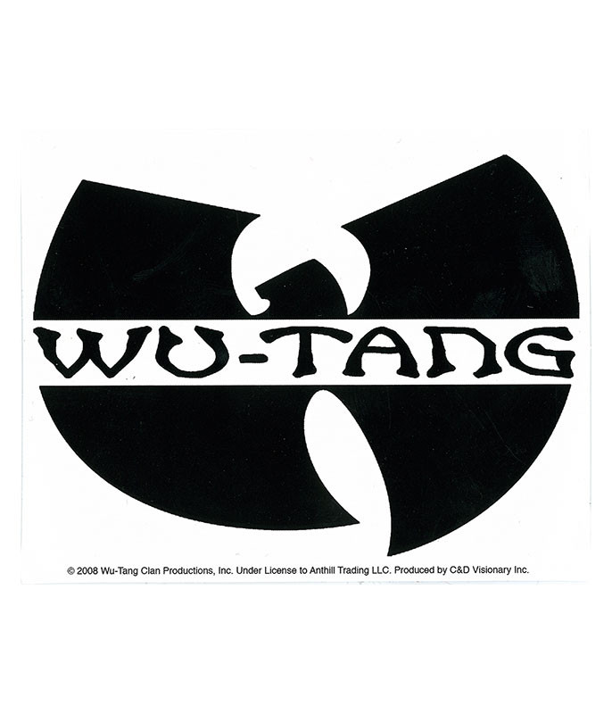 Wu-Tang Logo Sticker Liquid Blue