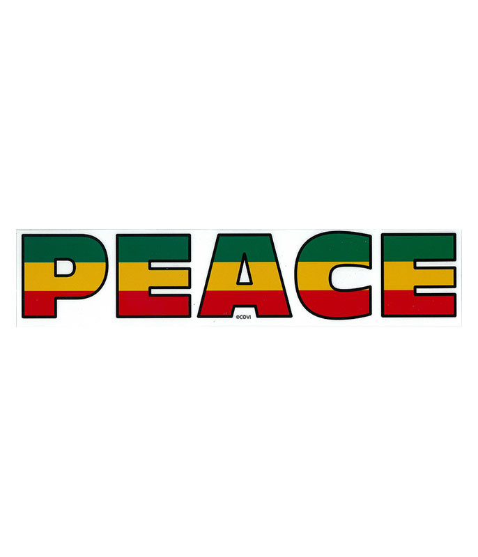 Rasta Peace Sticker