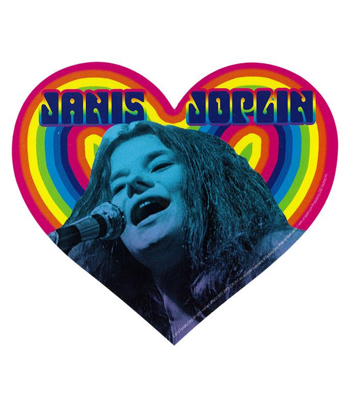 Janis Joplin Rainbow Heart Sticker