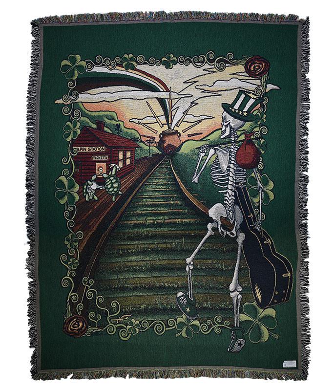 Grateful Dead GD Lucky Sam Woven Blanket