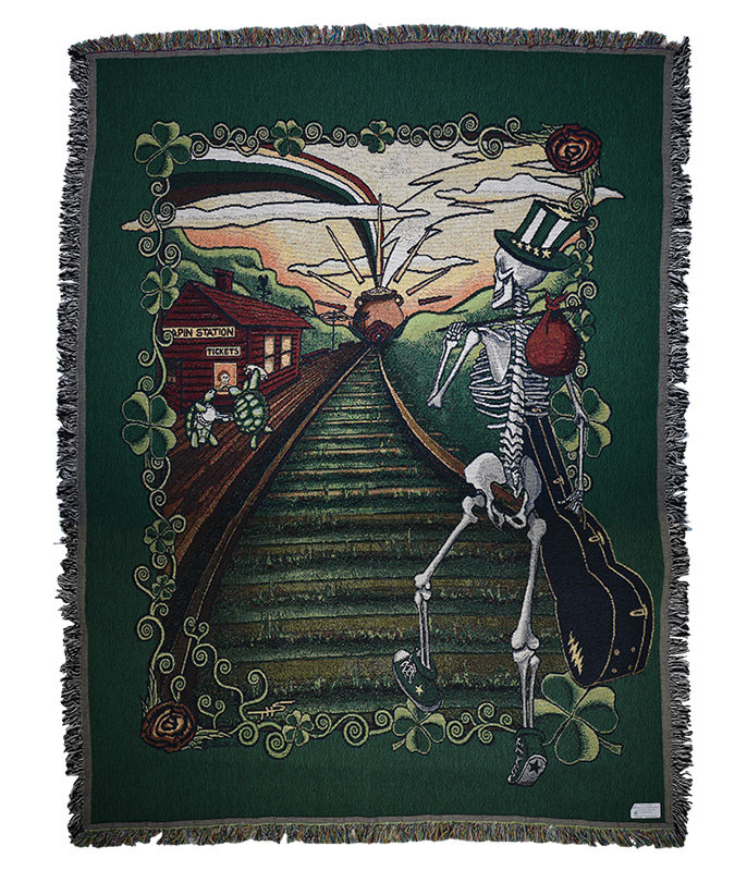 Grateful Dead GD Lucky Sam Woven Blanket