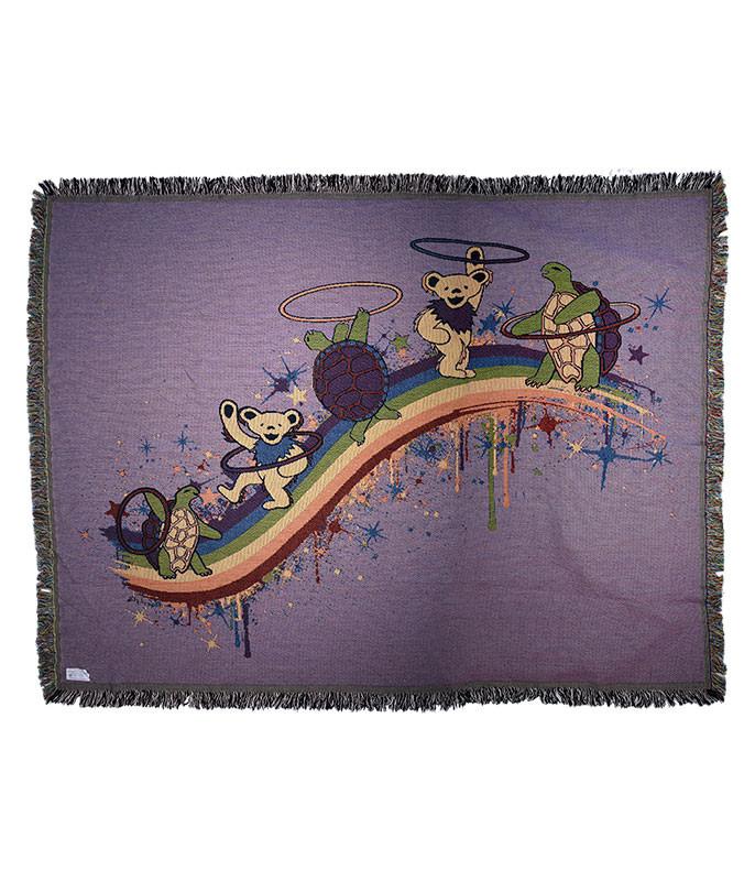 Grateful Dead GD Rainbow Hoopers Woven Blanket