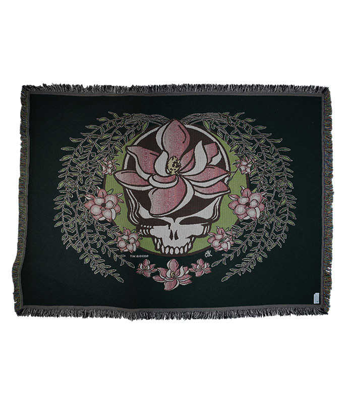 GD SUGAR MAGNOLIA SYF GREEN WOVEN BLANKET