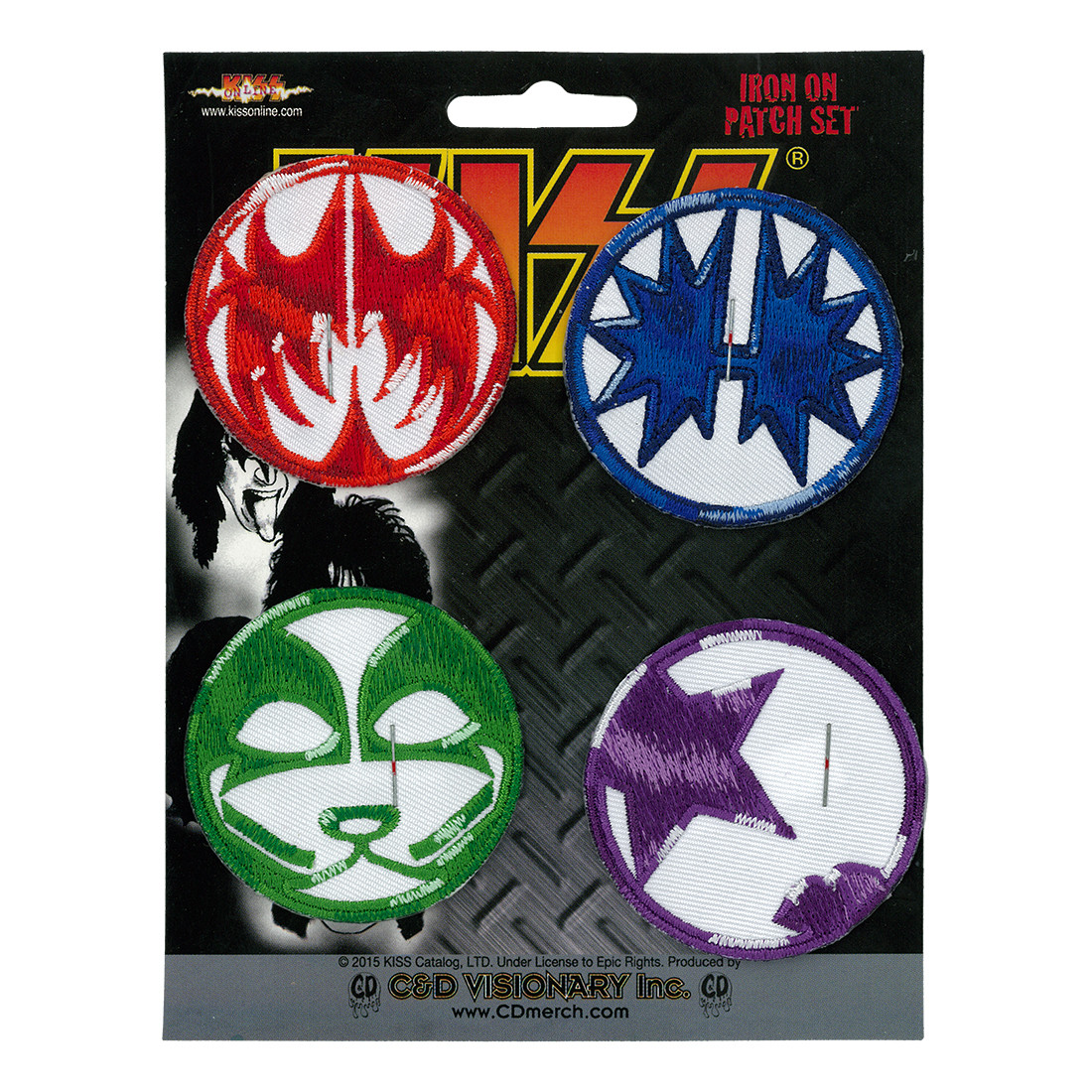 KISS Mini Icon Patch Set