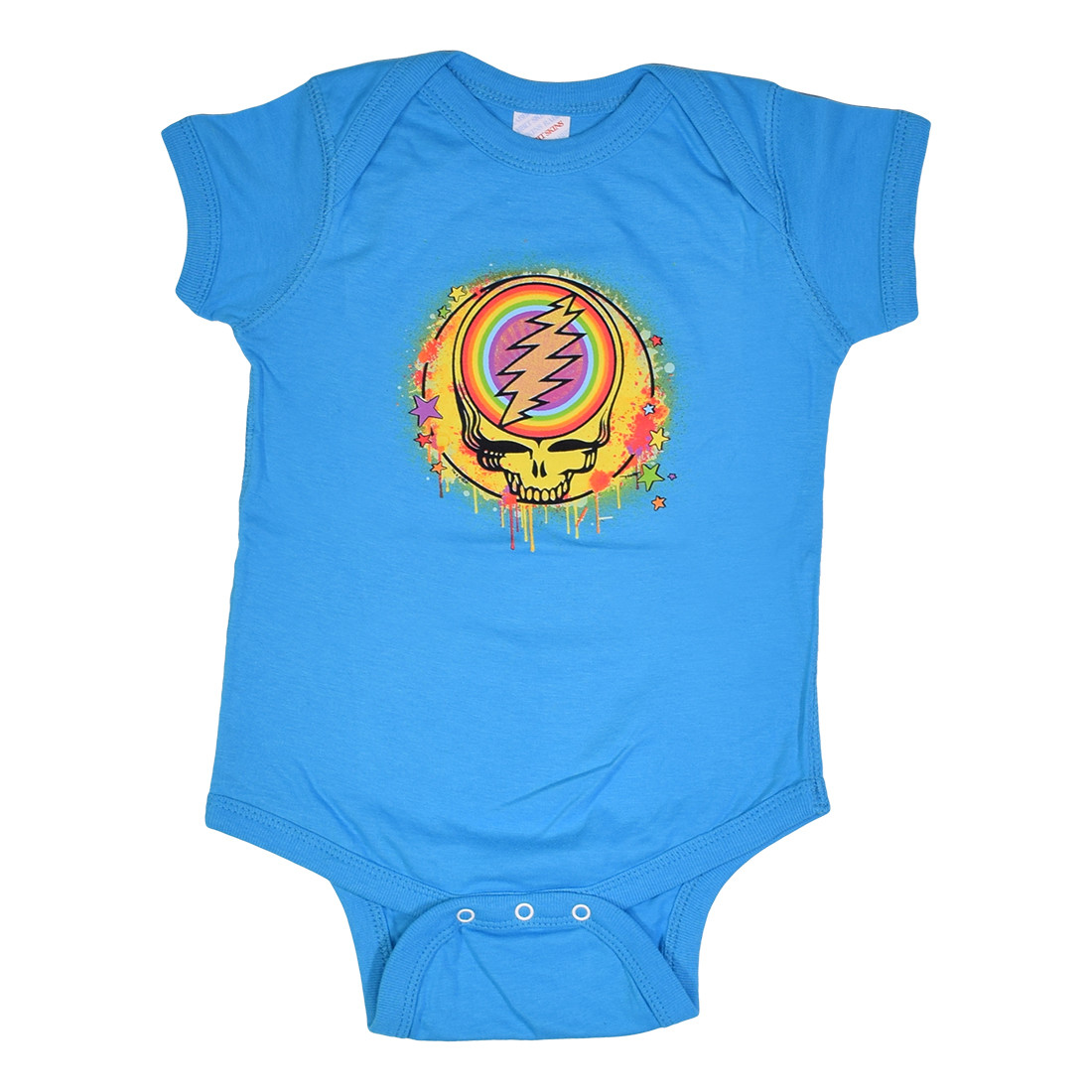 GD Rainbow Splatter Blue Onesie