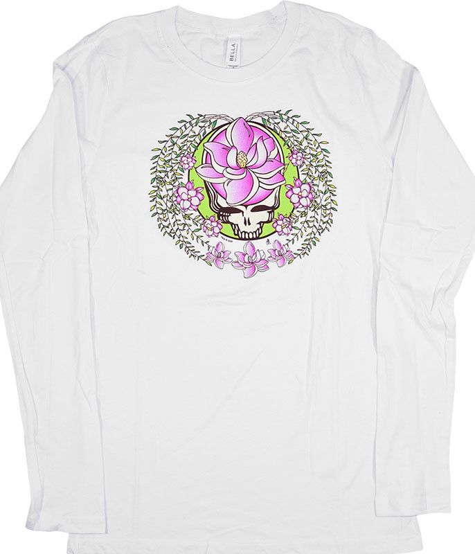 Grateful Dead GD Sugar Magnolia SYF Womens White Long Sleeve T-Shirt Tee