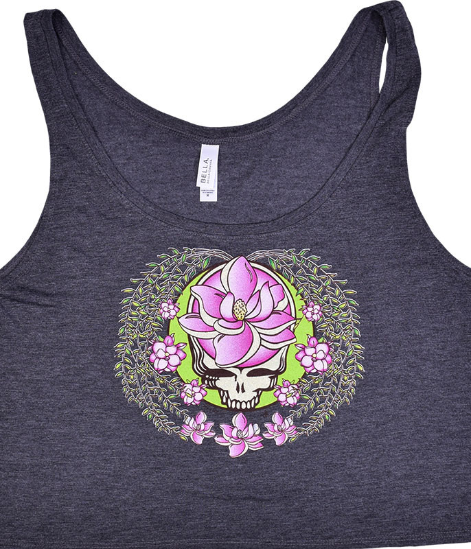 GD Sugar Magnolia SYF Dark Heather Flowy Boxy Tank Top T-Shirt