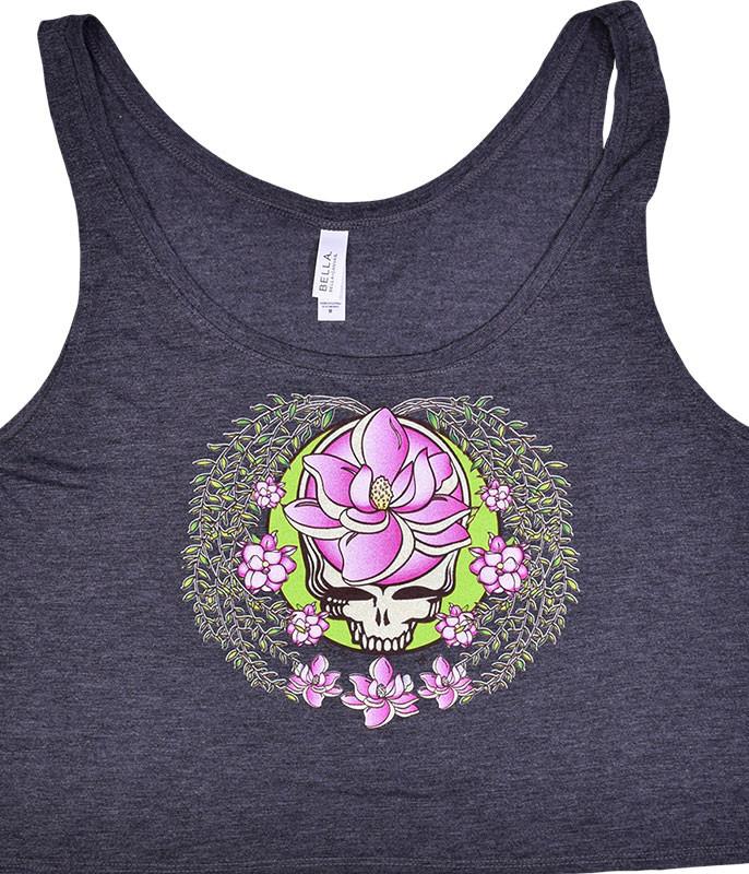 Grateful Dead GD Sugar Magnolia SYF Dark Heather Flowy Boxy Tank Top T-Shirt Tee