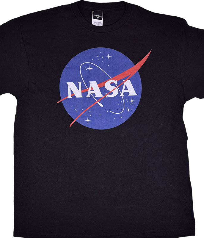 Space NASA Logo Black T-Shirt Tee