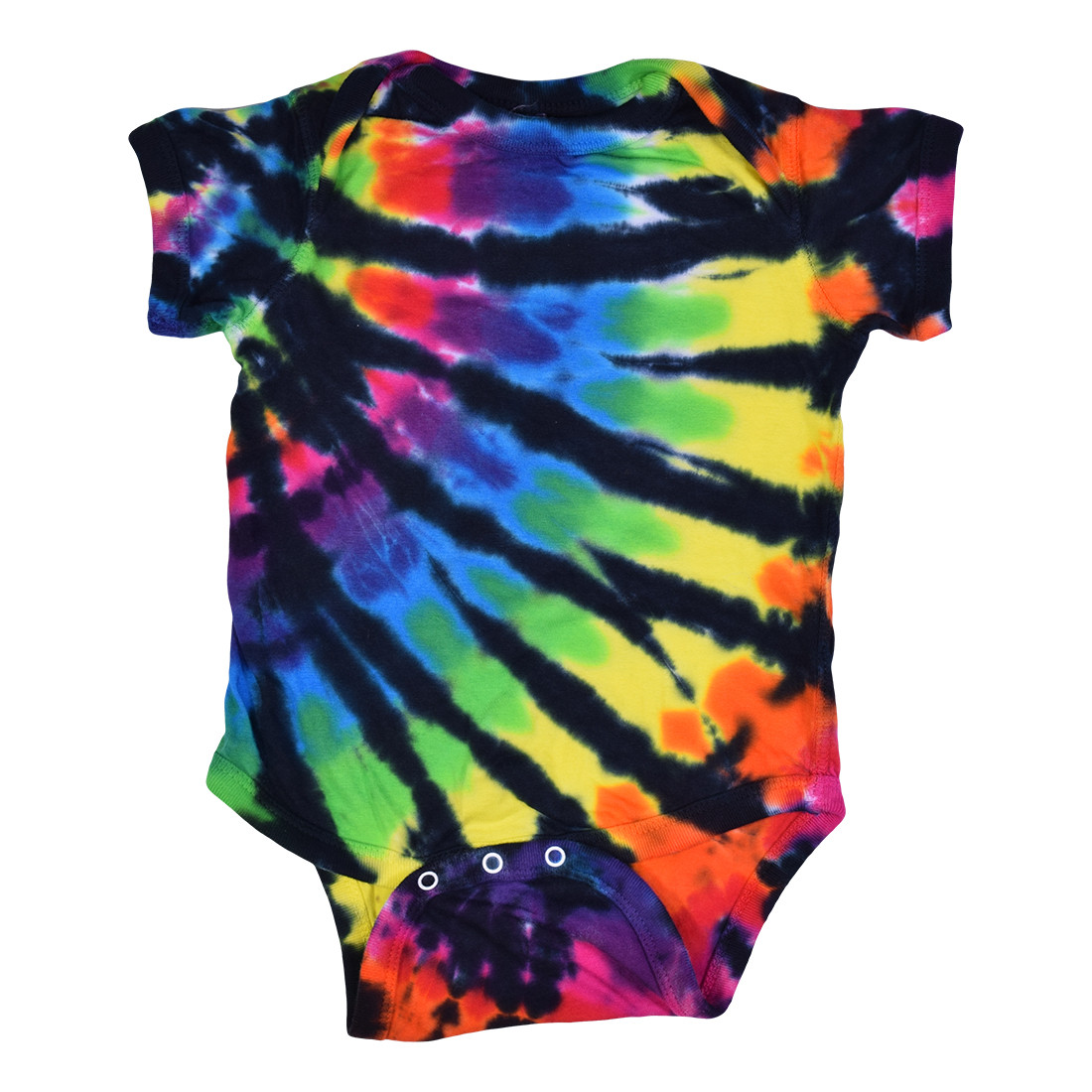 Rainbow Black Streak Tie-Dye Onesie