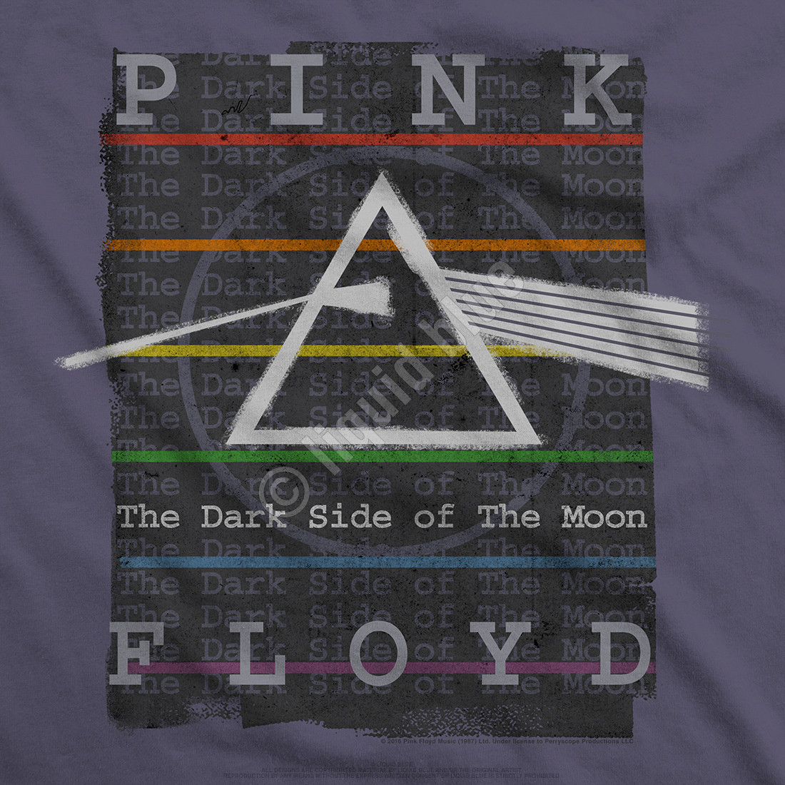 Dark Side Stamp Grey Athletic T-Shirt