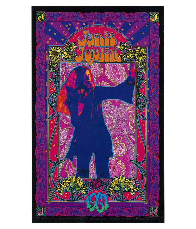 Janis Joplin '67 Poster Sticker