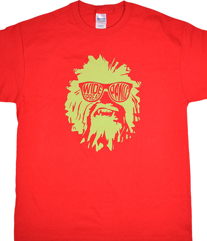 Widespread Panic Wukee Glasses Red T-Shirt Tee