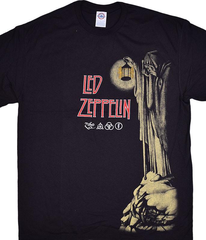 Led Zeppelin Hermit Black T-Shirt Tee