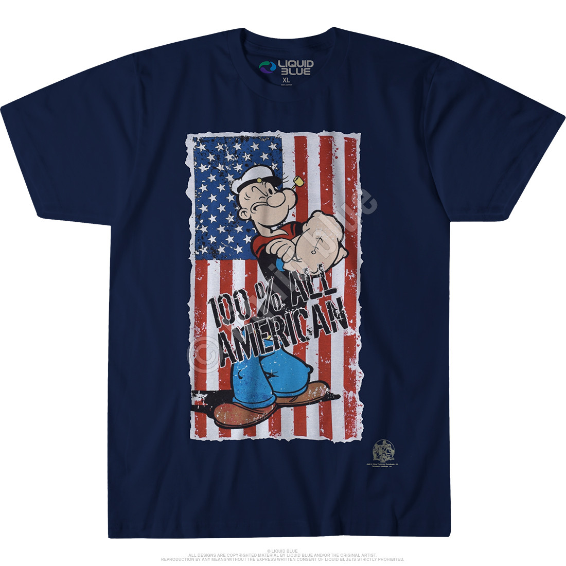 All American Navy T-Shirt