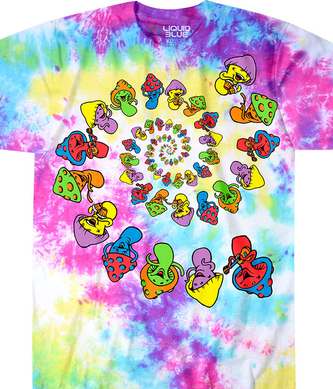 Spiral Shrooms Tie-Dye T-Shirt