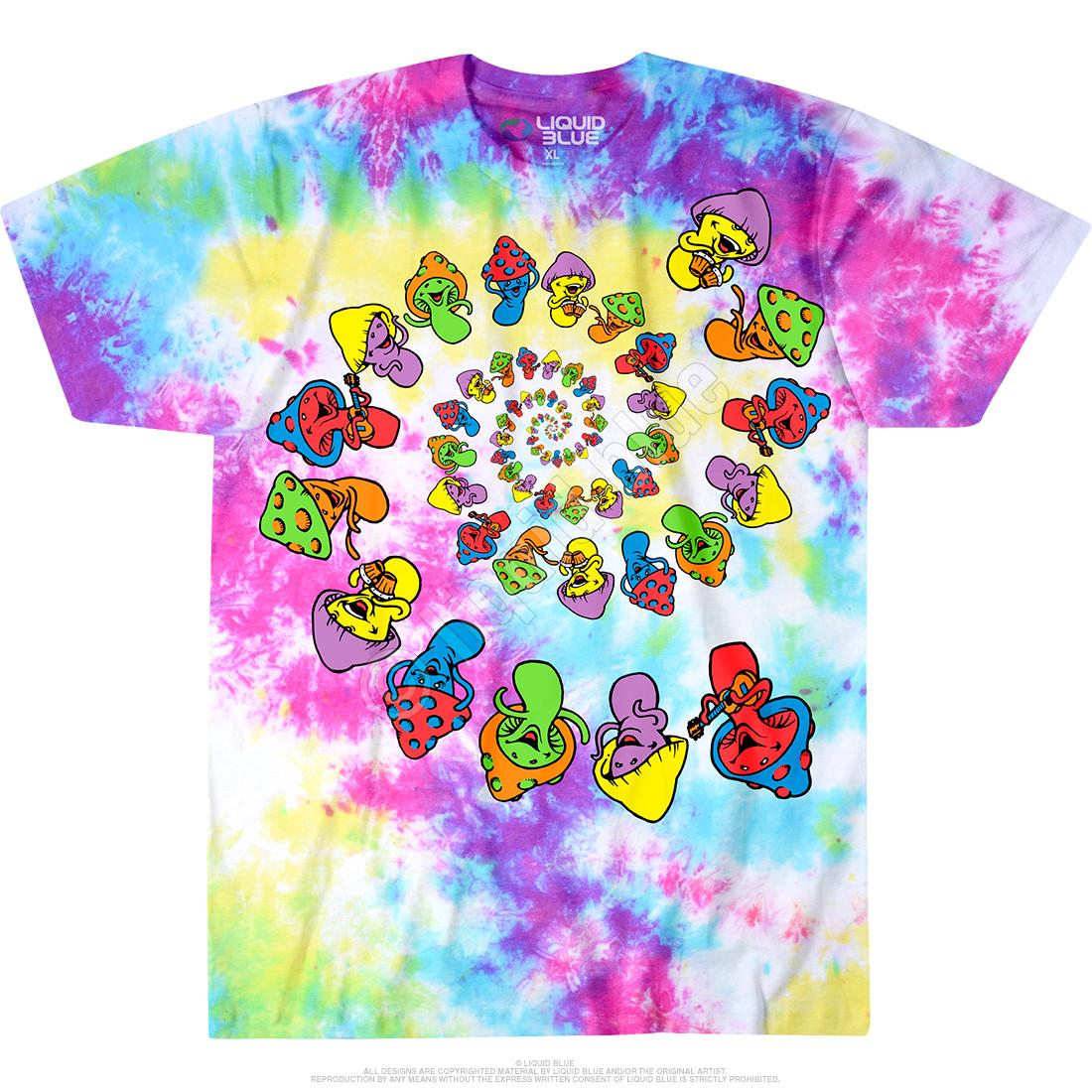 305dcdb6a3675 Spiral Shrooms Tie-Dye T-Shirt
