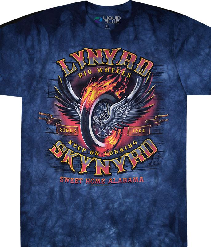 422874129c94c3 Big Wheels Tie-Dye T-Shirt Tee Liquid Blue