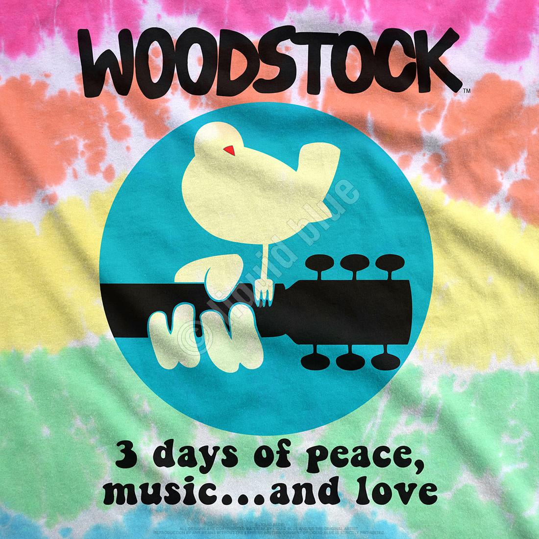 Woodstock Banded Tie-Dye T-Shirt