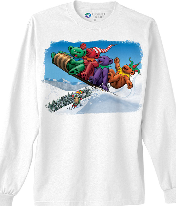 TOBOGGAN BEARS WHITE LONG SLEEVE T-SHIRT