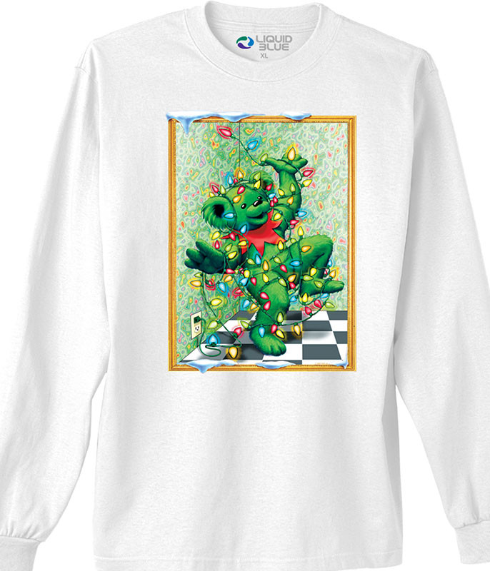 Grateful Dead Tangled Bear White Long Sleeve T-Shirt Tee