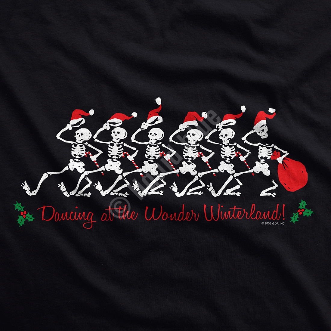 Wonder Winterland Womens Black Long Length T-Shirt