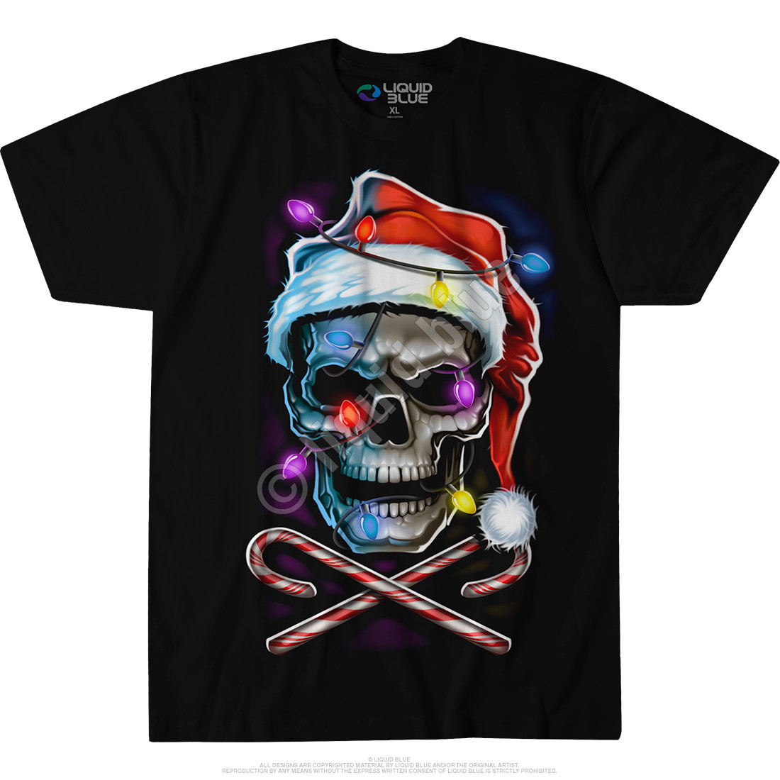 Skull and Cross Canes Black T-Shirt